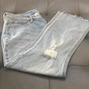 Distressed Old Navy Flare Jeans Size 14